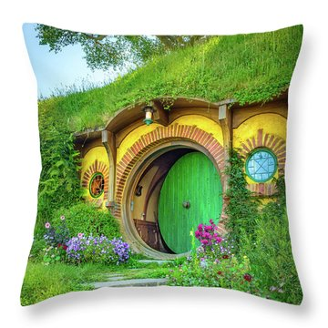 Bag End Throw Pillow