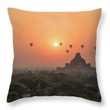 Bagan Temple Throw Pillow