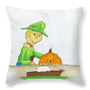 Baggs And Boo Canned Pumpkin Throw Pillow