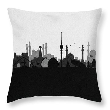 Baghdad Cityscape Throw Pillow