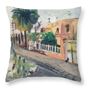 Baghdad Old House Throw Pillow