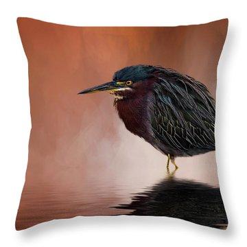 Bah, Humbug Throw Pillow by Cyndy Doty