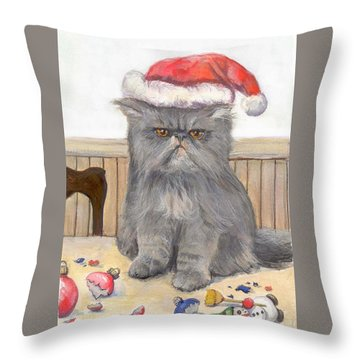Bah Humbug Throw Pillow by Donna Tucker