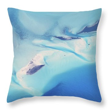 Bahama Banks Aerial Seascape Throw Pillow by Roupen  Baker