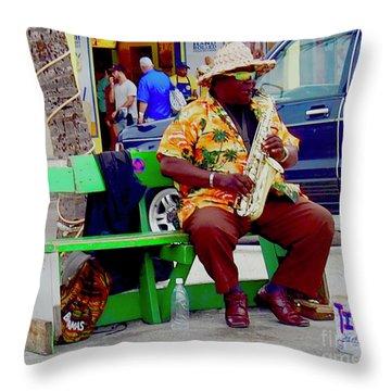 Bahama Solo Throw Pillow