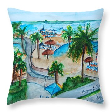 Bahamas Balcony Throw Pillow