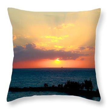 Bahamas Sunset Throw Pillow