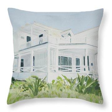 Bahamian House, 2004 Throw Pillow