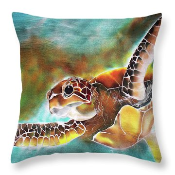 Bahamian Turtle Dove Throw Pillow
