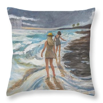 Bahia Honda Beach Throw Pillow