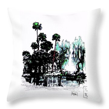 Throw Pillow featuring the painting Bahia San Lucas by Roberto Prusso