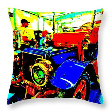 Bahre Car Show II 1 Throw Pillow