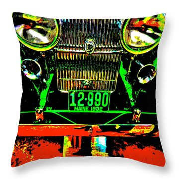 Bahre Car Show II 21 Throw Pillow