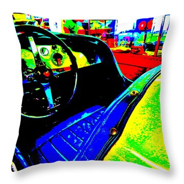 Bahre Car Show II 35 Throw Pillow