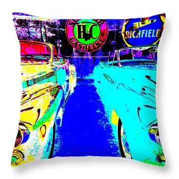 Bahre Car Show II 40 Throw Pillow by George Ramos