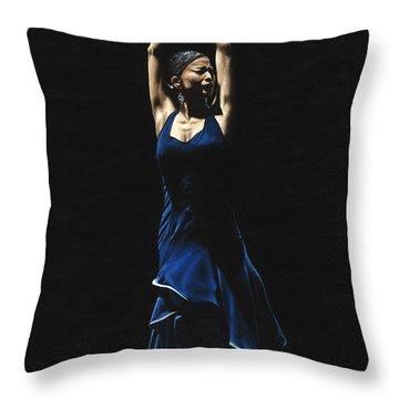 Bailarina A Solas Del Flamenco Throw Pillow by Richard Young