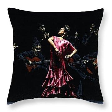 Bailarina Orgullosa Del Flamenco Throw Pillow by Richard Young