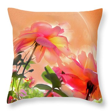 Baile Floral Throw Pillow