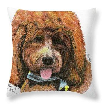 Bailey, II Throw Pillow by Bill Hubbard