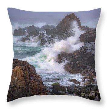 Bailey Island Coastline Throw Pillow