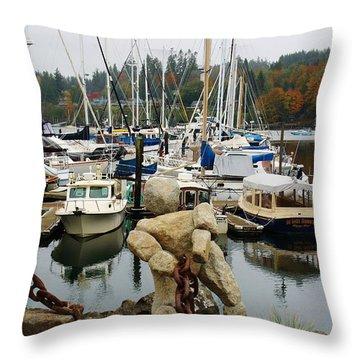 Bainbridge Harbor Throw Pillow by Bruce Bley