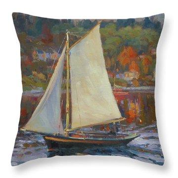 Bainbridge Island Sail Throw Pillow