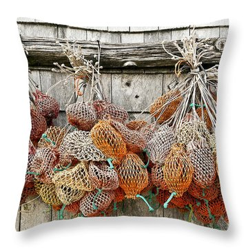 Bait Bags Throw Pillow by John Greim