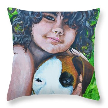 Baiya And Moja Throw Pillow