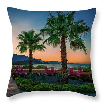 Baja Sunset Throw Pillow