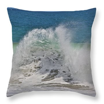 Baja Wave Throw Pillow