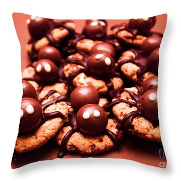 Baked Halloween Spider Cookies Throw Pillow