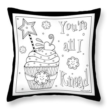 Baked With Love Throw Pillow by Tracy Campbell