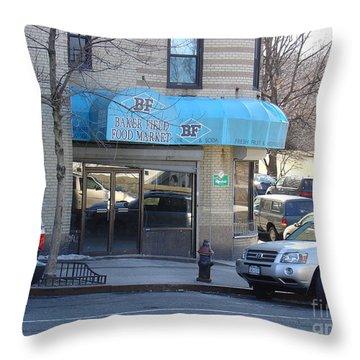 Baker Field Deli Throw Pillow
