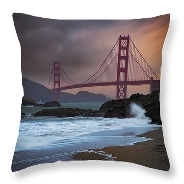Baker's Beach Throw Pillow