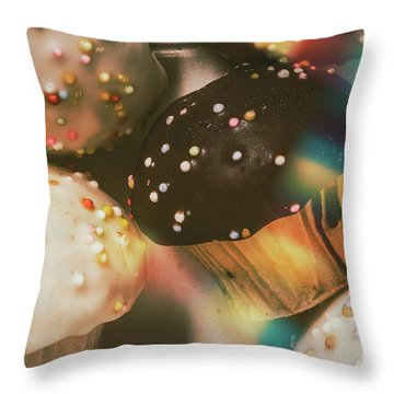 Bakers Cupcake Delight Throw Pillow