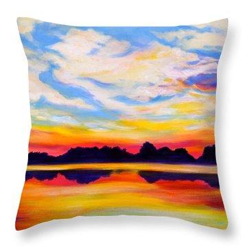Baker's Sunset Throw Pillow