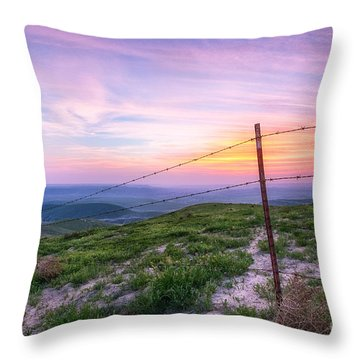Bakersfield Hills  Throw Pillow