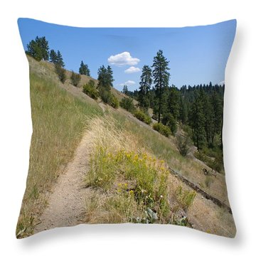 Throw Pillow featuring the photograph Bakery Hill by Ben Upham III