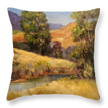 Bakesfield Creek Afternoon Throw Pillow