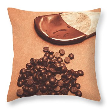 Baking Desserts With Chocolate Throw Pillow