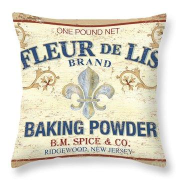 Baking Powder Fleur De Lis Throw Pillow