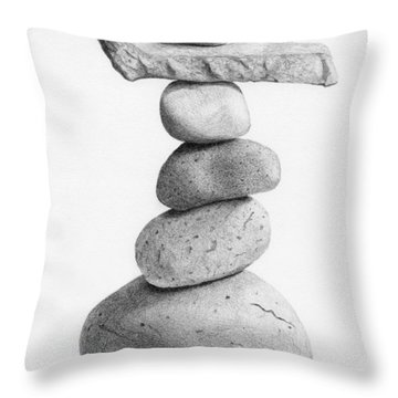 Balance 4  Drawing  Throw Pillow by Garry McMichael
