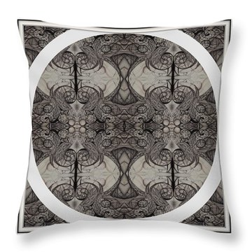 Balance Expressed In Black And White Throw Pillow