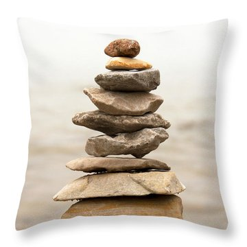Throw Pillow featuring the photograph Balance by Heather Kenward
