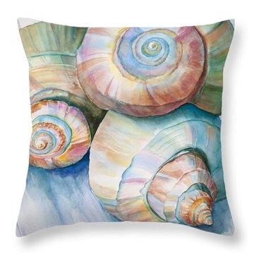 Balance In Spirals Watercolor Painting Throw Pillow
