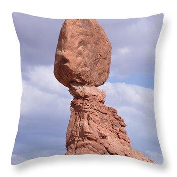 Balance Rock Throw Pillow
