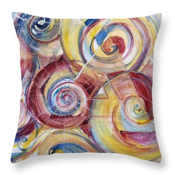 Balanced Awakening Throw Pillow