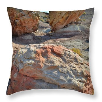 Balanced Boulders In Bentonite Site Throw Pillow