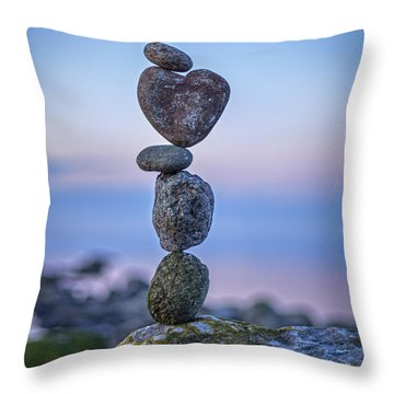Balanced Heart Throw Pillow