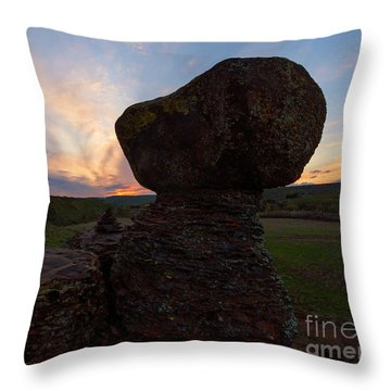 Throw Pillow featuring the photograph Balanced by Mike Dawson